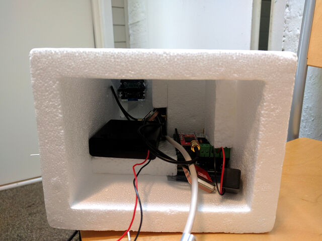 Inside the payload enclosure