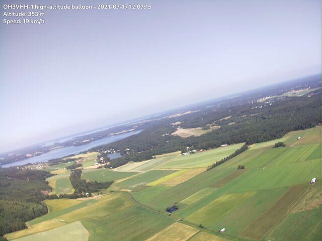 Parola and lake Lehijärvi soon after launch.