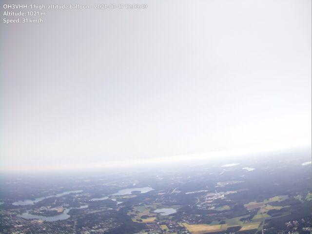 Flying over Hämeenlinna city center