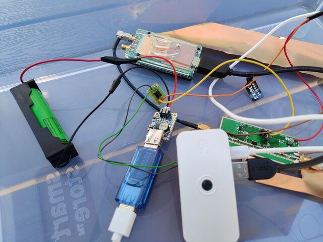 DVB-S1 transmitter hardware: Raspberry Pi Zero, LimeSDR Mini and G4BAO 70cm PA board