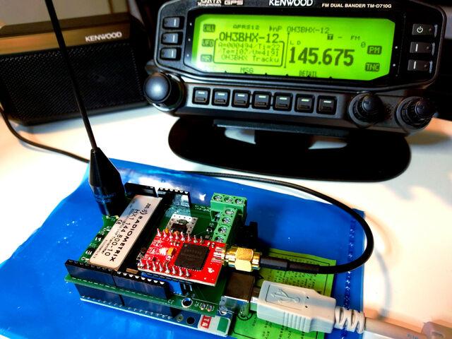 Testing Trackuino APRS transmitter